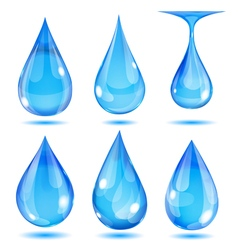 Set of opaque drops vector image
