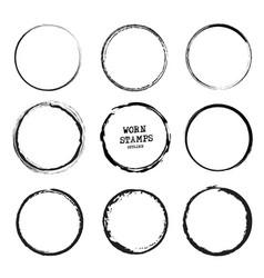 set old shabstamps template black grunge vector image