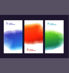 set three banners abstract headers with step vector image