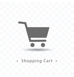 Shopping cart icon on transparent vector