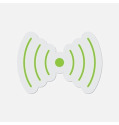 Simple green icon - sound or vibration symbol vector
