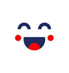 smile icon template design smiling emoticon logo vector image