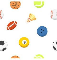 Sport ball pattern seamless background vector