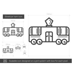 Streetcar tram line icon vector