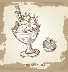 sweet desserts - hand drawn ice cream and vector image
