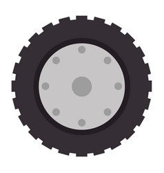 Tractor tire isolated icon vector