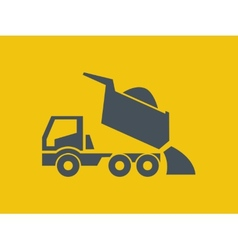 Transportation Flat Icon vector image