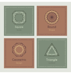 Trendy Cards with geometric symbols vector image