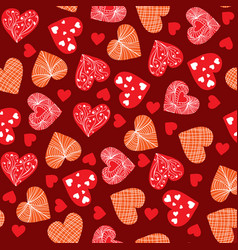 valentines day background design doodle hand vector image