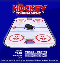 Variant of the poster for ice hockey tournament vector
