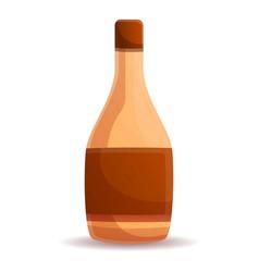Vinegar bottle icon cartoon style vector