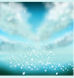 Watercolor sky background with shining sparks and vector