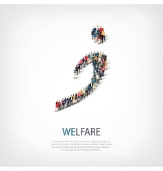 welfare people sign 3d vector image