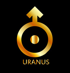 zodiac and astrology symbol of the planet uranus vector image