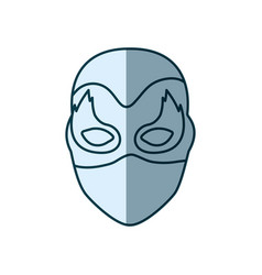 Blue silhouette with face of female superhero with vector