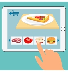 Concept of the grocery online store Order food vector image