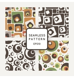 Set of seamless pattern of colored circles vector image vector image