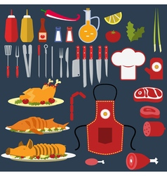 Set of the cooking objects vector image vector image