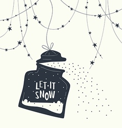 Bank and phrase let it snow123 vector image vector image