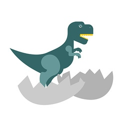 Dinosaur and egg Cub Tyrannosaurus hatched from an vector image vector image