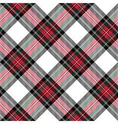 dress stewart tartan seamless pattern diagonal vector image vector image