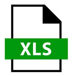 file name extension xls type vector image