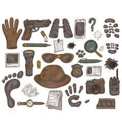 hand drawn set of with vector image