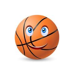 Happy basketball ball vector image