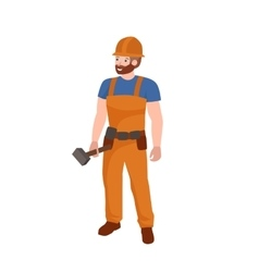 Man worker plumber profession people uniform vector image