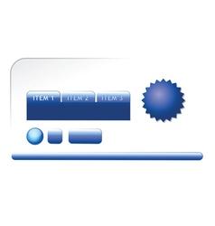 modern blue web elements vector image vector image