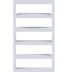 Set of White mockup Paper Banners vector image