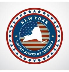 Vintage label New York vector image vector image