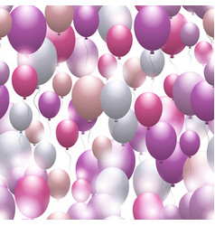 balloons seamless festive pattern background for vector image vector image