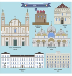Famous Places in Italy vector image
