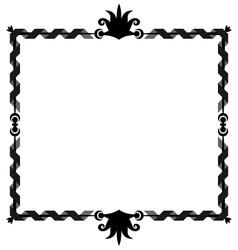 Oldstyle ribbon frame vector image vector image