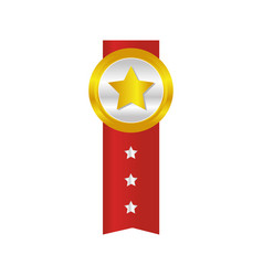 star award isolated icon vector image vector image