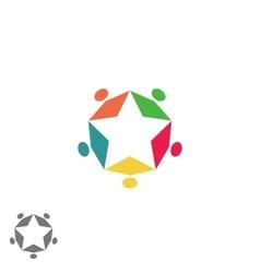 Success business community partnership logo vector image