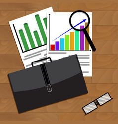 Analysis of economic growth in business vector