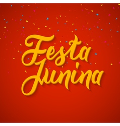 Festa Junina celebration poster Brazilian festa vector image