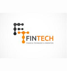 logo innovative concept for fintech industry vector image