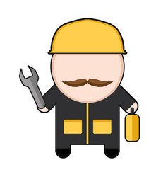 profession character worker vector image vector image