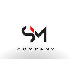 sm logo letter design vector image