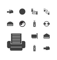13 universal icons vector