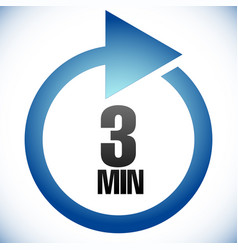 3 min turnaround time tat icon interval for vector