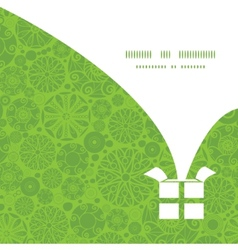 abstract green and white circles Christmas gift vector image