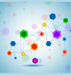 Abstract hexagonal molecular structure vector