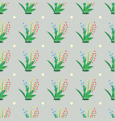Abstract seamless pattern with green grass vector