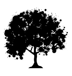 Abstract tree icon image vector