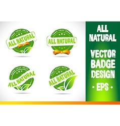 All natural badge logo vector