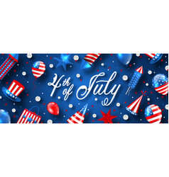 american traditional banner for usa independence vector image